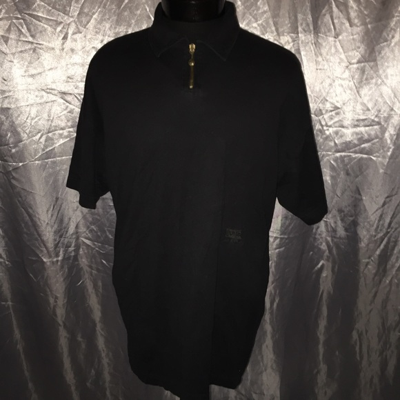 5b400ccefa V2 by Versace men's zip up collared polo